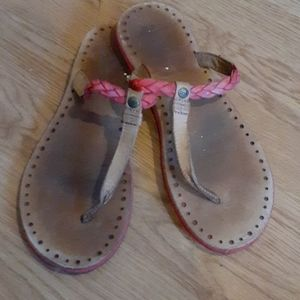 Ugg leather thong sandals size 10